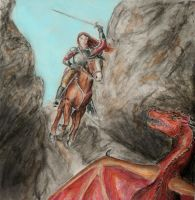 Confronting the Dragon by GreyCorbie