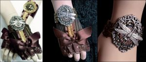 Steampunk accessories II by Pinkabsinthe