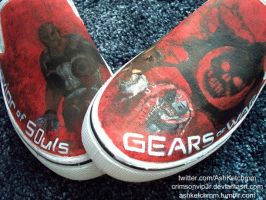 Gears of War 3 Canvas Slip-ons by CrimsonVip3r