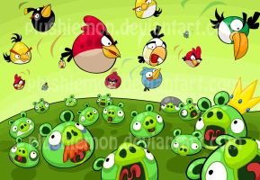 Angry Birds by plushiemon