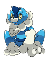 Froakie Fakeevolution Ribbule by Phatmon