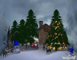 Xmas scenery for XNALara by deexie