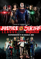 Justice League vs Suicide Squad movie poster by ArkhamNatic