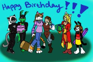 Bday pic for Animatedtigergrrl by nesilverwing