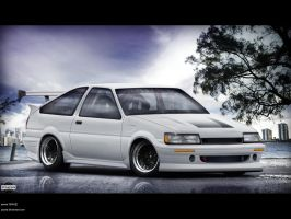 Toyota Corolla AE86 by pacee