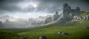 Cryengine 3 Forbidden Lands game environment by Klass1987
