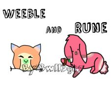 Weeble and Rune by bw113gez