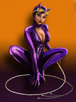 Letter C - Catwoman by Comical1