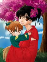 Kagome n' Shippo Colored by KaozCore