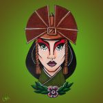 Mini Portrait: Avatar Kyoshi by creampuffy
