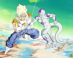 Vegeto VS frieza by bloodsplach