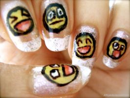 Awesome Face Nails by AFK-photo