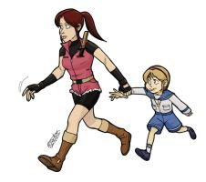 Claire e Sherry by bleyerart