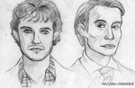 Hannibal and Will - Sketch by frozen-cherries