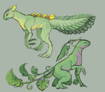 Sceptile and Grovyle: Subspecies by Silverbirch