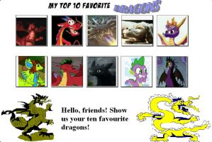 My Top 10 Favorite Dragons by SithVampireMaster27