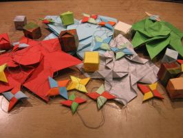 Origami Christmast Tree Ornament Collection by Melsaran