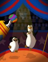 penguins circus by TraiN8