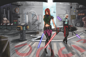 Katarina and Wukong ( star wars theme) by he1lfire
