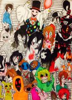 The Creepypasta Family *w* by HellishProxy