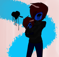 Chibi Eyeless Jack and Eyeless Jack by Xx-MayhemOnMisery-xX