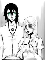 Ulquiorra and Orihime 2 by Myrrie