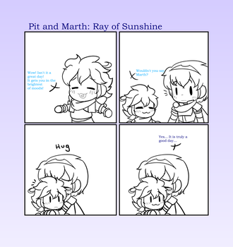 Pit And Marth: Ray of Sunshine by CutieSweetCakes