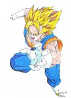 Vegetto attack coloured by Vegetto90