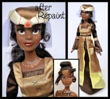ooak repainted medieval party tiana doll. by verirrtesIrrlicht