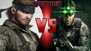 Death Battle Solid Snake vs. Sam Fisher thumbnail by SteveIrwinFan96