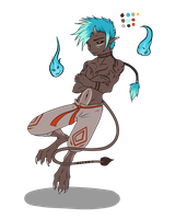 Oniboy Chibi Full Character Adopt - SOLD by ShadowInkAdopts
