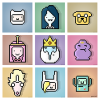 Adventure Time Pixel Art by AJsCanvas