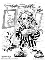 #INKtober 23. Beetlejuice and Sheldon. by AxelMedellin