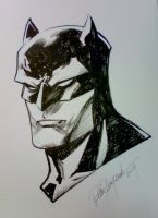 Batman head Paris Manga sketch by elena-casagrande