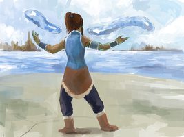waterbending warm up. by MewOfTheClouds