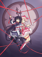 Madoka Magica_Intertwined destinies by Arwen-chan