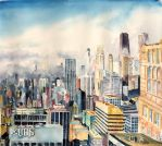 Fog over the Windy City by NeoNative