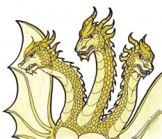 King Ghidorah by SkywalkerGirl666