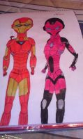 Iron Man and Iron Woman by VaderNihilus