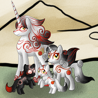 The Okami Family-MLP by SinLigereep