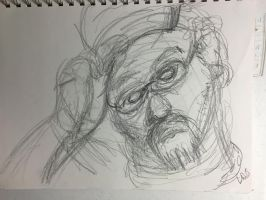 Selfportrait Rough Study1 by ldjessee