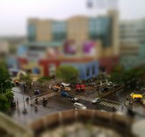 Kalyani Nagar square - tilt shift by nuklar