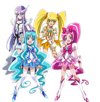 HeartCatch Pretty Cure - New Stage 2 Poses by frogstreet13