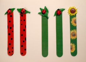 Bookmarks_ladybugs-sunflower by serenainwonderland