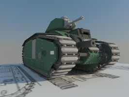 Char B1 front by Giganaut