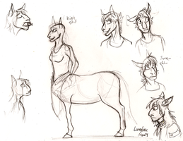 Concept: centaurs by Wolfy-T