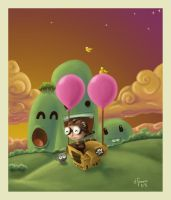 .:fly my imagination:. -monito by childrensillustrator