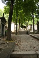 Pere Lachaise stairs by deadenddoll-stock