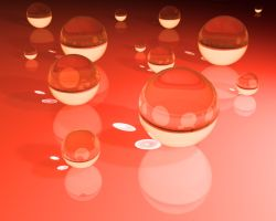 Red Glass Sphere Wallpaper by b-a88