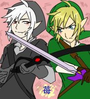 Link and Dark Link by Lordofmango